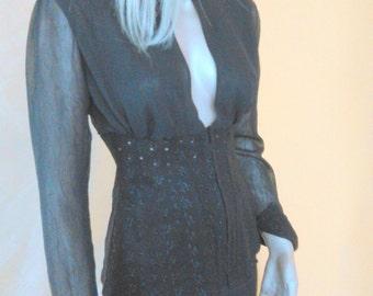 black blouse , dark blouse,bodice blouse, corset blouse