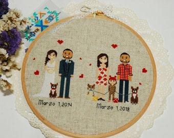 7th Anniversary gift 7th Wedding anniversary Wool Copper Anniversary gift Seventh anniversary gift 7 Year anniversary Seven year anniversary