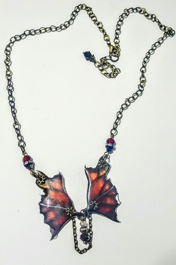 Fire Dragon Wings Necklace
