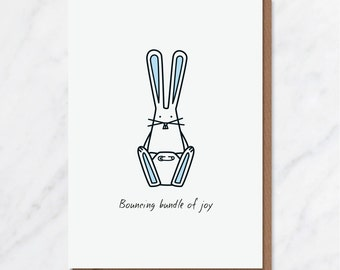 New Baby card (blue)