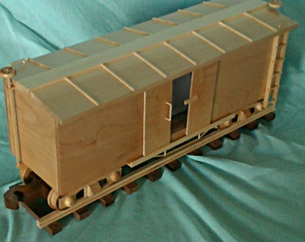 Train  Box Car   Hand crafted of Maple hardwood