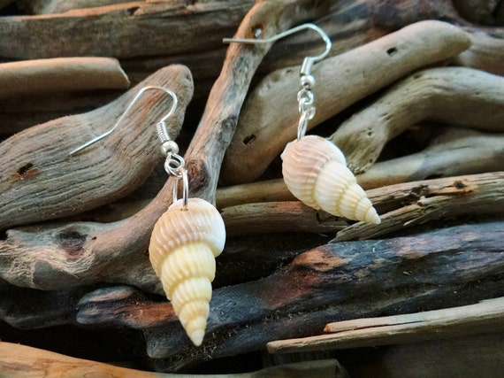 Little Conch Trumpet Earrings I'm Really A Mermaid Genuine Natural Seashell Shell Sea Earring Ear Hooks Dangles Drop Jewelry Beach Wedding