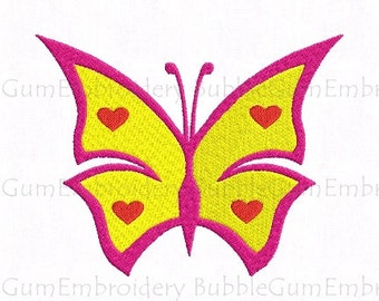 Butterfly Embroidery Design Instant Download