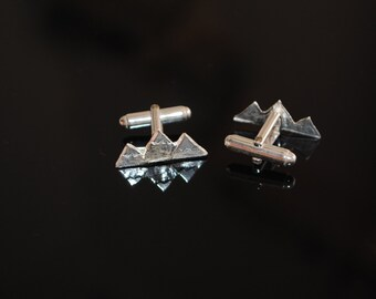 Teton Mountain Cufflinks Silver