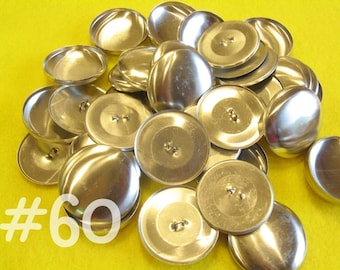 50 Covered Buttons - 1 1/2 inches - Size 60 wire backs/loop backs covered buttons notion supplies diy refill