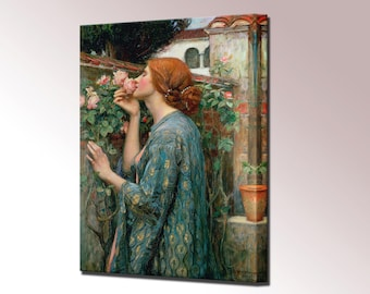 The Soul of the Rose John William Waterhouse Canvas Wall Art Gift for Her Wife gift Canvas Print Canvas Art Ready To Hang