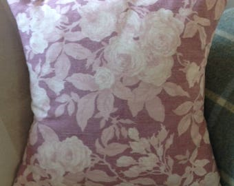 Soft Pink floral cushion cover