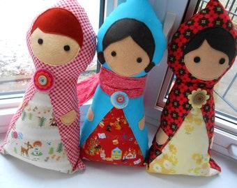 Little Traveller Doll PDF Sewing Pattern - Rag Doll - Matryoshka - Riding Hood Doll