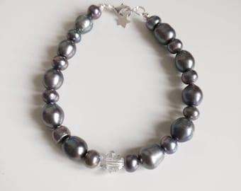 Freshwater Pearl and Swarovski Bracelet