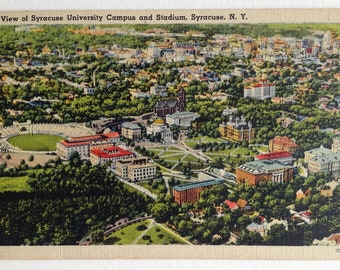 Syracuse, University, Vintage Postcard, Syracuse NY, Syracuse campus, Syracuse Stadium, Syracuse alumni gift, post card, Syracuse University