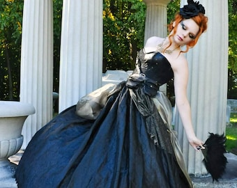Steampunk gothic princess skirt