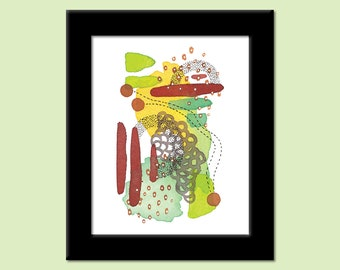 Colors of the Day 42 - Colorful Contemporary Modern Abstract Art Print by Megan Q.C. Gallagher