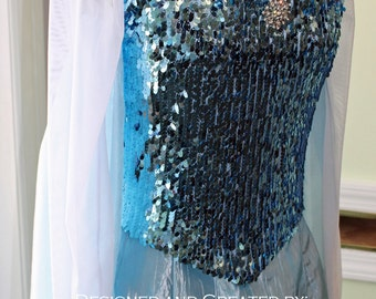 Snow Queen Costume - Custom Made Ladies Sizes, Elsa Dress, Elsa Costume, Frozen Costumes, Custom Elsa Cosplay Costume, Made to Fit