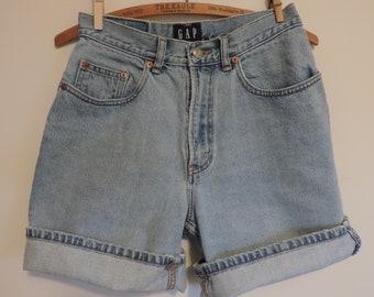 Vintage GAP Denim Shorts High Waisted Mom Jeans Stone Washed Jean Shorts size 6 Denim Shorts