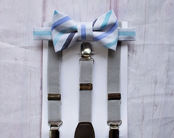 Baby Boy Bow Tie and Suspenders, Ring Bearer Outfit, Wedding Bow Tie, Boys Cake Smash Outfit, Baby Boy Bow Tie, Toddler Bow Tie, Boys Gift