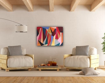 Original Geometric Abstract Painting: The Gold Standard
