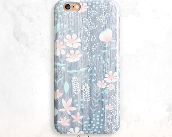 iPhone 8 Case, Floral iPhone X Case,Wood iPhone 7 Case, iPhone 6 Plus, iPhone 5 Case, Floral Pattern iPhone 6 Case, Floral iPhone 7 Case