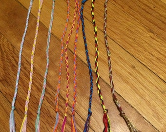 Mystery Simple Three Color Friendship Bracelets