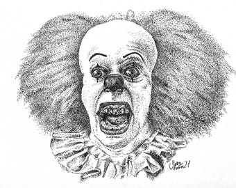 Portrait Pennywise The Dancing Clown Print