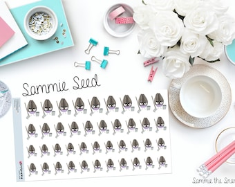"SAMMIE SNARK SEED: ""Hates Cleaning"" Paper Planner Stickers"
