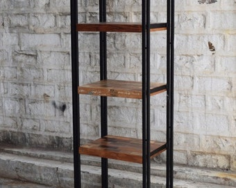 Reclaimed wood and iron display case