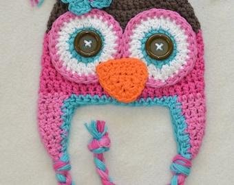 Baby hat, owl hat, crochet owl hat, baby hat, crochet baby hat, crochet kids hat, owl hat,newborn owl hat,winter hat,baby winter hat