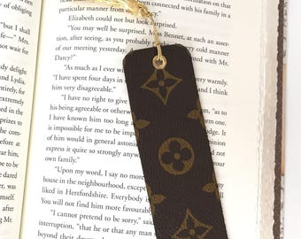 Louis Vuitton Bookmark made with Upcycled Authentic Canvas