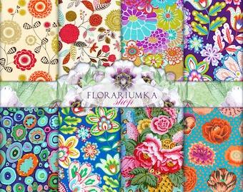 Floral Patterns Digital Download Patterns Backgrounds Digital Download Vintage Digital Scrapbook Paper Digital Vintage Paper F-67