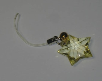 Strikingly Beautiful Yellow Star to Guide Your Way - Zipper Pull/Cell Charm/Keychain