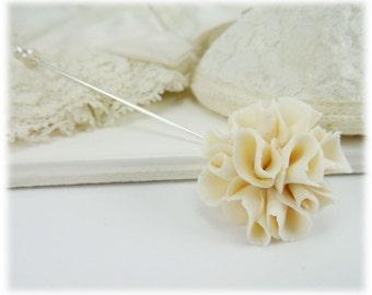 Carnation Brooch or Stick Pin - Carnation Jewelry, January Birthday Birth Flower