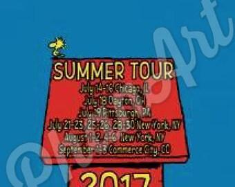 Peanuts Summer Tour 2017 Phish shirts