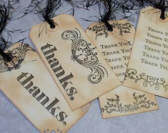 Vielen Dank Geschenkanhänger Jahrgang 4 mittlere Tags - schimmernde Geschenkanhänger
