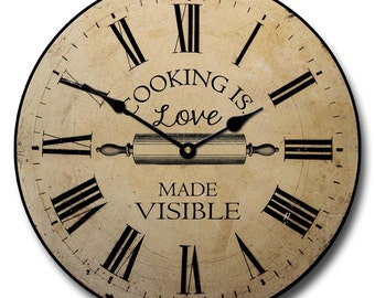 Cooking is Love Wall Clock