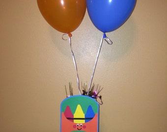 Crayon Theme Balloon Party Centerpiece