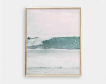 Ocean Surf PRINTABLE Wall Art - Beach Print - Minimalist - Modern Nursery Decor - Apartment Decor - Digital Art - Waves - SKU:3079