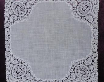 Vintage Antique Stunning Lace Bride's Women's Handkerchief Wedding Hanky Hankie