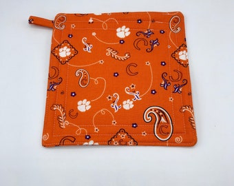 Clemson Tigers Insulated Pot Holder, Hot Pad