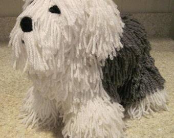 Crocheted Old English Sheepdog PDF Pattern - Digital Download - ENGLISH ONLY
