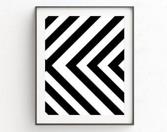 Black and White Art, Geometric Art, Geometric Print Scandinavian Art, Printable Wall Art, Printable Poster, Modern Wall Art, Digital Prints