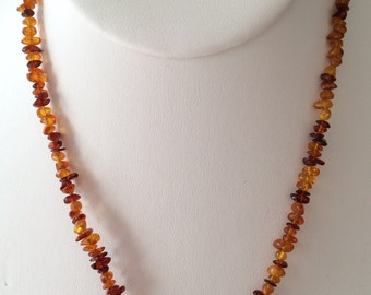 Amber Chip Necklace