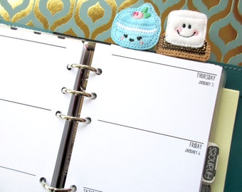 Personal Size Week on Two Pages - Printed Filofax Inserts [Mon-Sun]