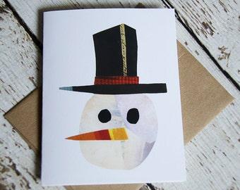 Snowman card of Original Collage