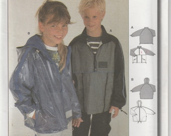 Raincoat Pattern Jacket With Hood Zipper Boys Girls Size 6 - 7 - 8 - 9 - 10 - 11 Uncut Burda 9934