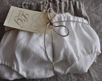 Set of Two Pure Linen Panties/Knickers/ Linen underwear/ Linen Lingerie/ Ecofriendly Panties