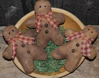 EPATTERN -- Gingerbread Men Ornies Bowl Fillers TWO STYLES
