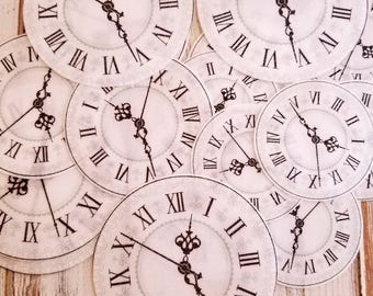 Clock Wafer Paper Circles, Cookie Decorations, Cupcake Decorations, Cake Decorations, Clock, Watch