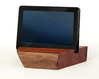 TB001 Live Edge Tablet Stand, Cherry