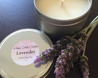 Soy Candle Handmade - Lavender