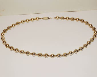 Vge Sterling Silver Made In Mexico 10 & 5mm Bead Necklace.