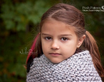Knitting Patterns - Knitting Pattern - Cowl Knitting Pattern - Button Cowl - Knitting Patterns Kids - Toddler, Child, Adult Sizes - PDS 145